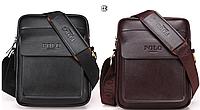 Мужская сумка барсетка натуральная кожа Polo Feidika среднего размера