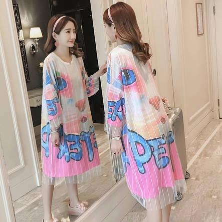 Платье с принтом цветное, фото 2