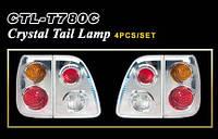 Задние фонари оптика Toyota LAND CRUISER 100 98-04 LED/Crystal  (4шт)