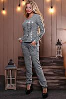 Оригинальный костюм цвета светло-серый меланж, фото 1