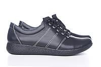 Черные женские кожанные кроссовки Ванда-2ч