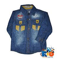 Детская джинсовая рубашка Ju Nuo Poi с длинным рукавом  , для мальчика 1-4 года, 4 шт. в упаковке