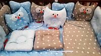 Детское постельное белье в кроватку с совами