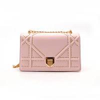 НОВИНКА! Стильная модная женская сумка Dior Diorama на цепочке розового цвета