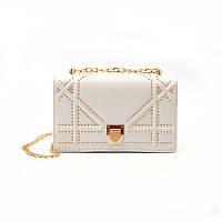 НОВИНКА! Стильная модная женская сумка Dior Diorama на цепочке белого цвета