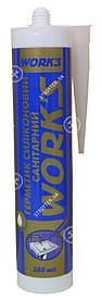 Works Герметик санитарный силиконовый белый 280 мл (11007)