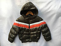 Куртка демисезонная детская для мальчика 1-5 лет, хаки, фото 1