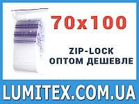 Пакеты струна с замком zip-lock 70*100 мм