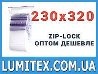 Пакеты струна с замком zip-lock 230*320 мм