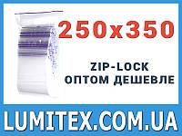 Пакеты струна с замком zip-lock 250*350 мм