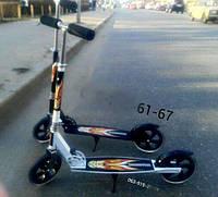 Самокат, детский, двух, колесный, детям, от 4 лет, на, больших, колесах, scooter, колеса, мягкие, безшумные