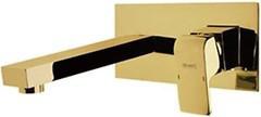 Смеситель настенный скрытого монтажа для умывальника (Латунь/Золото) Newarc SILVER 851578 (Турция)