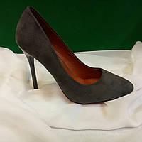 Стильные замшевые женские туфли на шпильке (ЛА251)
