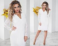 Классическое женское приталенное платье большого размера 5 цветов