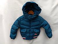 Куртка демисезонная детская для мальчика 1-5 лет, синего цвета, фото 1
