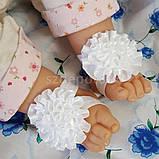 Повязка на голову для новорожденных +повязки на ножки набор, фото 2