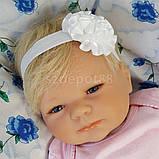 Повязка на голову для новорожденных +повязки на ножки набор, фото 3