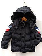 Куртка демисезонная детская для мальчика 1-5 лет, черная, фото 1