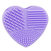 """Силиконовая щетка для чистки кистей BrushEgg """"Сердце"""", фото 1"""