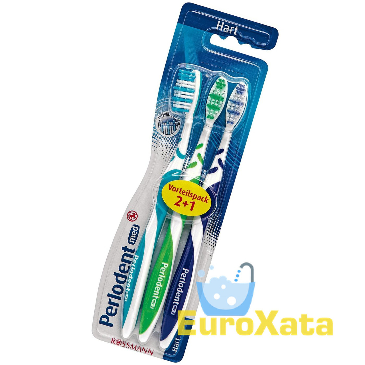 Зубная щетка Perlodent med Hart (3 шт) Германия
