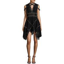 Черное платье ручной работы