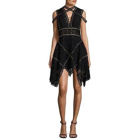 Черное платье ручной работы, фото 2