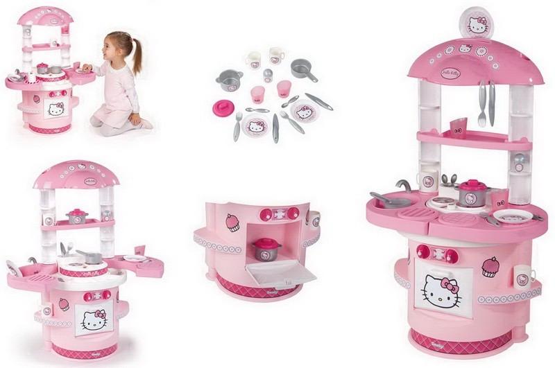 Кухня игровая детская Hello Kitty Smoby (Хеллоу Китти Смоби)