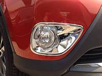 Хром накладки на противотуманные фары Toyota RAV4 2013-on