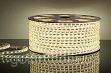 Светодиодная лента 3528 60LED IP65 герметик силикон (белый теплый)  5м