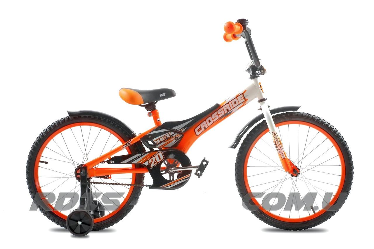 """Детский велосипед CROSSRIDE JET 20""""  Оранжевый/Черный"""