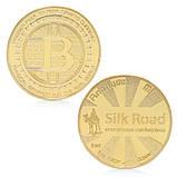 Биткоин монета сувенирная позолота, фото 2