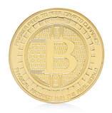 Биткоин монета сувенирная позолота, фото 3