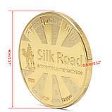 Биткоин монета сувенирная позолота, фото 4