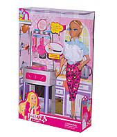 Кукла типа барбиповарс аксессуарами,кухонный набор, 81021А, 2 вида,коробка21*6*32 см