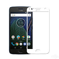 Защитное стекло Motorola Moto G5S Plus / XT1805 / XT1802 / XT1803 / XT1804 Full cover белый 0,26мм в упаковке