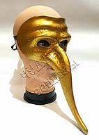 Венецианская маска Доктор Чума золото