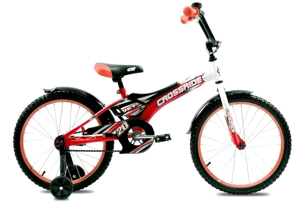 """Дитячий велосипед Crossride JET R20"""" (Біло-червоний)"""