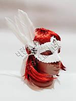 Венецианская маска Тайна белая