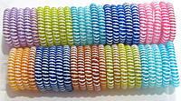Силиконовая резинка спираль полосатая d 5,5 см 50 шт/уп