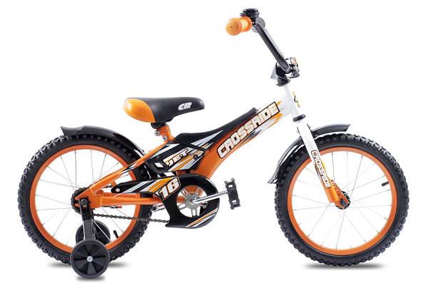 """Детский велосипед CROSSRIDE JET 16""""  Оранжевый/Черный"""