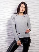 Удобный повседневный однотонный свитер тонкой вязки черный, S (42-44)