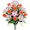 Букет искусственных цветов Лилия и роза в бутоне , 55 см
