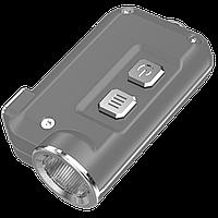 Фонарь Nitecore TINI (Cree XP-G2 S3 LED, 380 люмен, 4 режима, USB), серый, фото 1