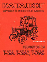 Інструкція з експлуатації, каталог замінних частин Т-25Ф