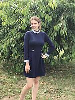 Платье синее  RB-4717