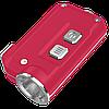 Фонарь Nitecore TINI (Cree XP-G2 S3 LED, 380 люмен, 4 режима, USB), красный