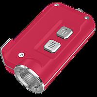 Фонарь Nitecore TINI (Cree XP-G2 S3 LED, 380 люмен, 4 режима, USB), красный, фото 1