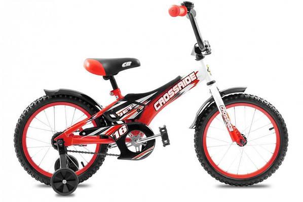"""Детский велосипед CROSSRIDE JET 16""""  Красный/Черный"""