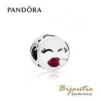 Pandora Шарм ПОЦЕЛУИ #796561EN152 серебро 925 Пандора оригинал