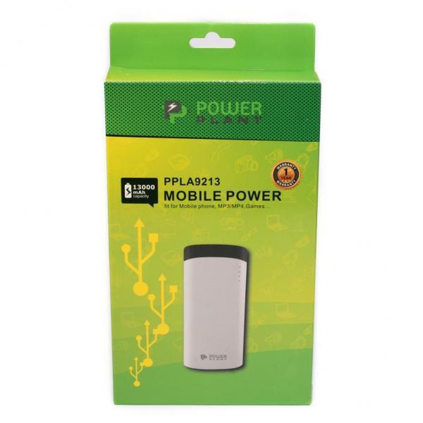 Универсальное зарядное устройство PowerPlant PB-LA9213 13000 mAh Black-White (PPLA9213)